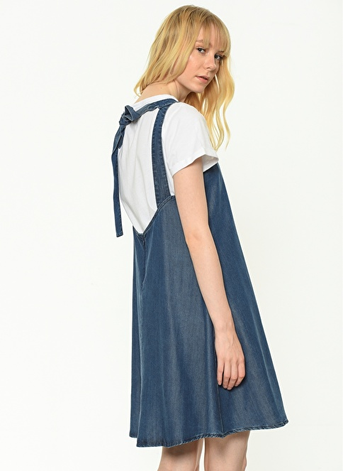 Mavi Kolsuz Elbise İndigo